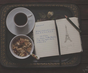 cup, drawing, and eiffle tower image