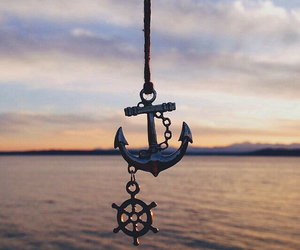 anchor, sea, and ocean image