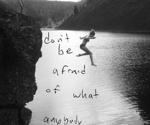 afraid, life, and quote image
