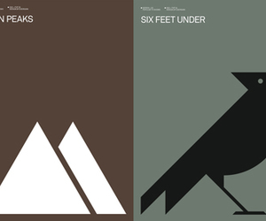 graphic design, six feet under, and Twin Peaks image