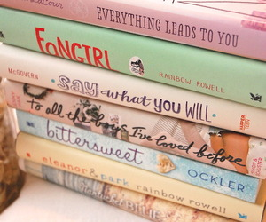 book, fangirl, and girly image
