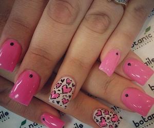 pink, nail art, and nails image