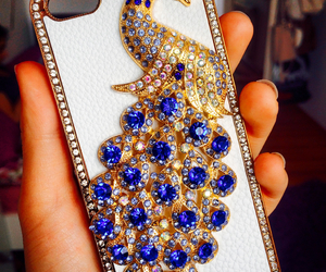 blue, gold, and strass image
