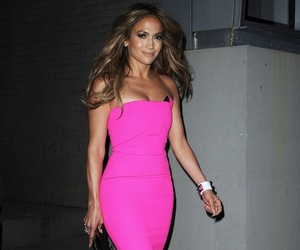 Jennifer Lopez, pink, and fashion image