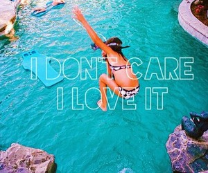 i don't care, ocean, and summer image
