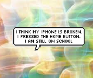 home, speech bubble, and iphone image