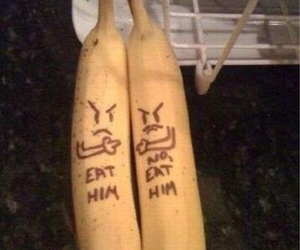 banana, funny, and fruit image