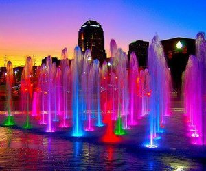 beautiful, colours, and fountain image