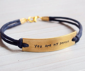 bracelet, gold, and person image