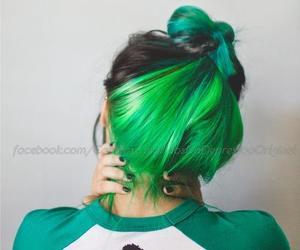 hair, verde, and cabelos coloridos image