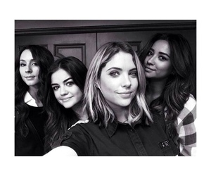 black and white, lucy hale, and instagram image