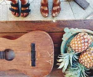 guitar, pineapple, and summer image