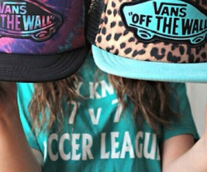 vans, caps, and girl image
