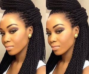 braids, flawless, and make up image