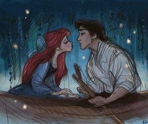 ariel, disney, and kiss image