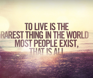 quote, live, and text image