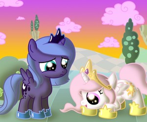celestial, luna, and MLP image