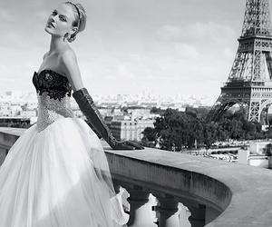 french, paris, and dress image
