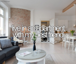 apartment, bucket list, and best friend image