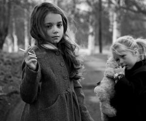 girl, smoke, and kids image