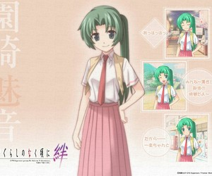 anime, green hair, and shion image