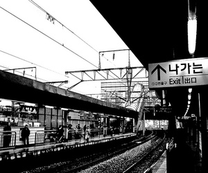 asia, black & white, and city image