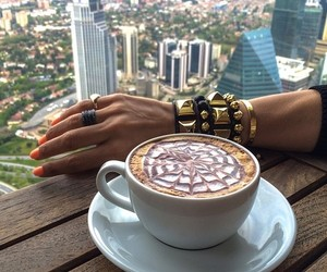 coffee, nails, and city image