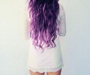 hair, dress, and purple image