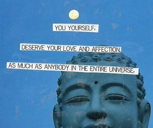 love, quote, and Buddha image