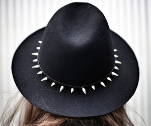 fashion, hat, and black image