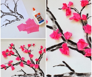 diy, tree, and flowers image