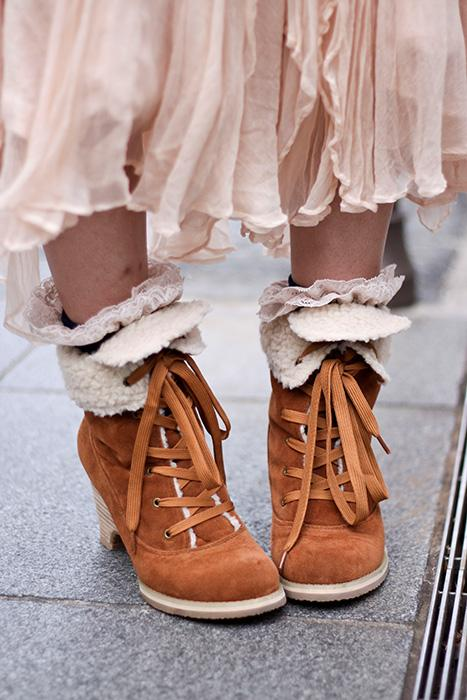 boots, shearling, and fashion image