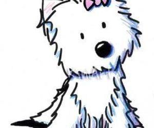 adorable, bow, and dog image