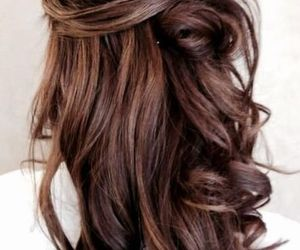 beautiful hair, cute, and brunette image