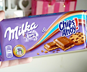 chocolate, milka, and chips image