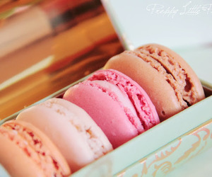 food, yummy, and macarons image