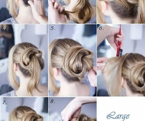 hairstyle, chongo, and cabello image