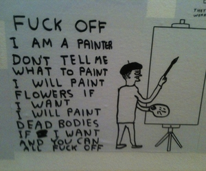 funny, Painter, and pale image