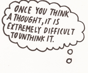 quote, think, and thoughts image