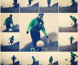 football, soccer, and soccer girl image