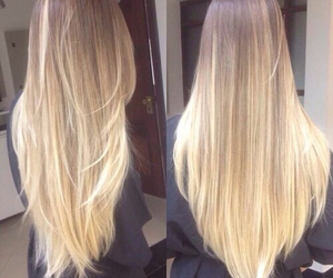 hair, blonde, and long image