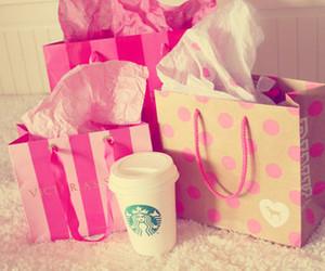 pink, starbucks, and Victoria's Secret image