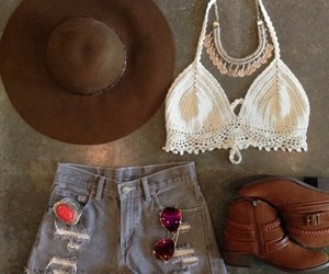 bohemian, boots, and crop image