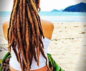 beach, dreads, and rasta image