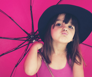 girl, pink, and child image