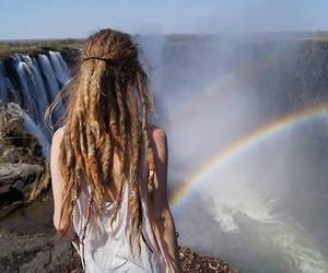 dreads, rainbow, and nature image
