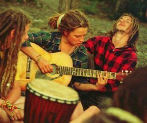 dreads, music, and vibe image