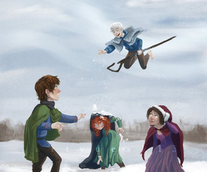 jack frost, merida, and rapunzel image