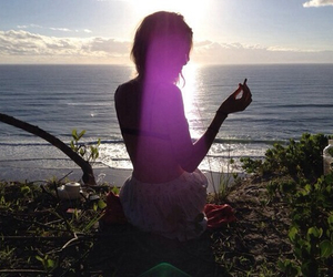 girl, beach, and nature image