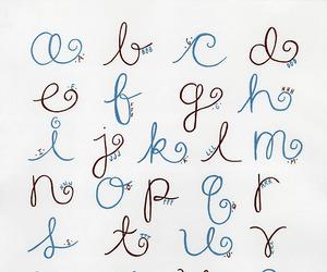 alphabet, cursive, and art image